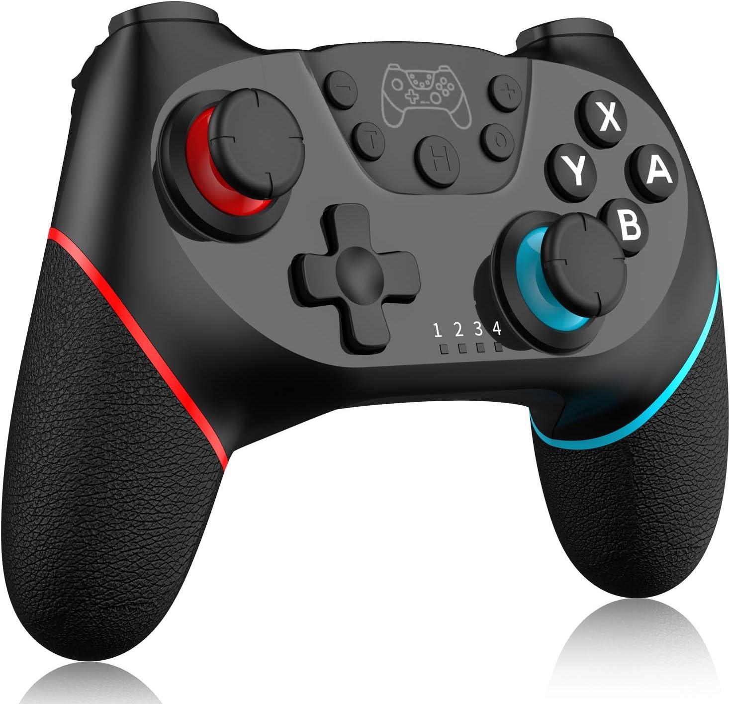 Inalámbrico Mando para Nintendo Switch, RegeMoudal Bluetooth Controlador para Switch, Switch Gamepad Joystick con Batería Recargable, Vibración, Turbo, Giroscopio Función para Switch/ Lite: Amazon.es: Electrónica