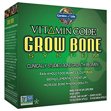 Garden of Life Raw Calcium Supplement - Vitamin Code Grow Bone System Whole  Food Vitamin with