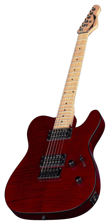 Dean Guitarra Dean Nashvegas Deluxe Hum Hum Cuerpo sólido de arce flameado guitarra eléctrica - rojo transparente: Amazon.es: Instrumentos musicales