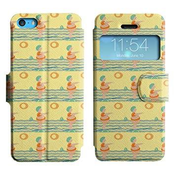 LEOCASE gordita Funda Carcasa Cuero Tapa Case Para Apple iPhone 5C No.1004187: Amazon.es: Electrónica