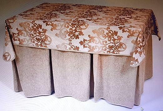 Desconocido Enagua+tapete para Mesa de 130 * 80cm: Amazon.es: Hogar