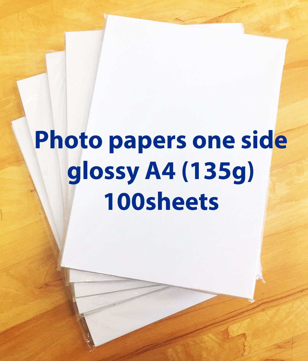 ChiButtons Photo papers one side glossy A4 (135g) 100 sheets (Specially for button maker use)