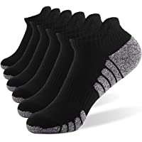 (6Pairs) Athletic Ankle Socks, Meinice Low Cut Cushioned Running Tab Sports Socks for Men and Women