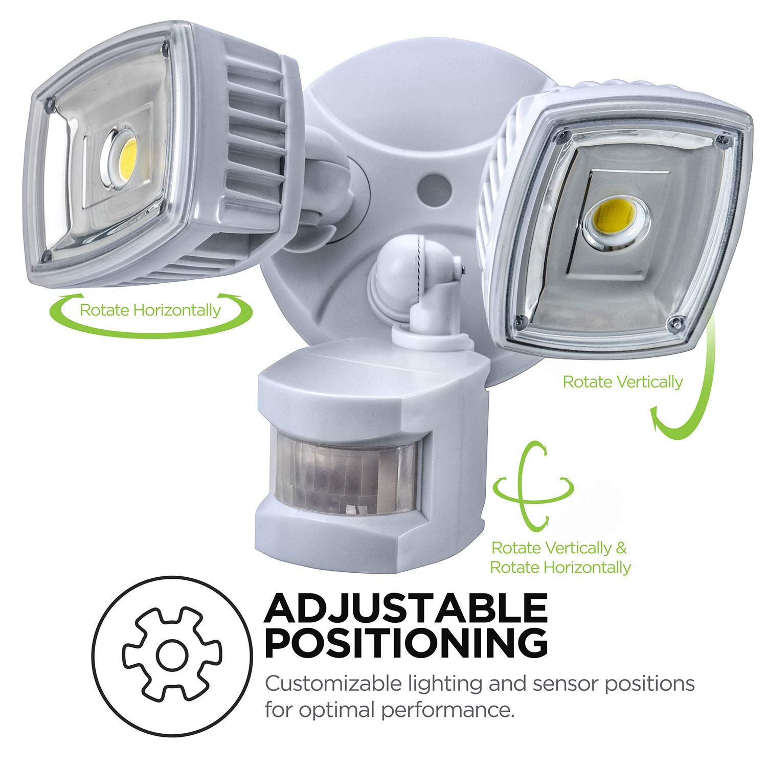 Home Zone ES00730U Security LED Motion Sensor Flood Lights, Outdoor Weatherproof Ultra Bright 5000K, White by Home Zone (Image #4)