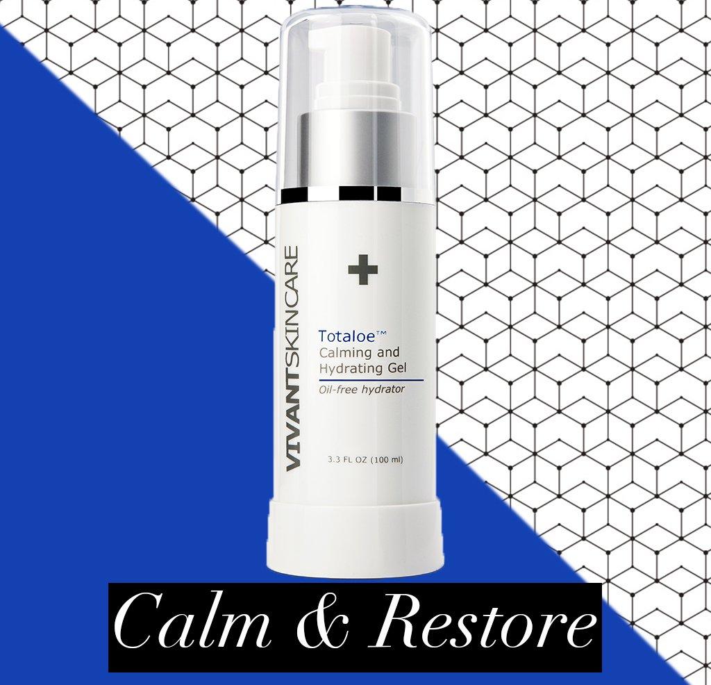 Vivant Skin Care's Totaloe Calming & Hydrating Gel | 3.3 Fluid ounce