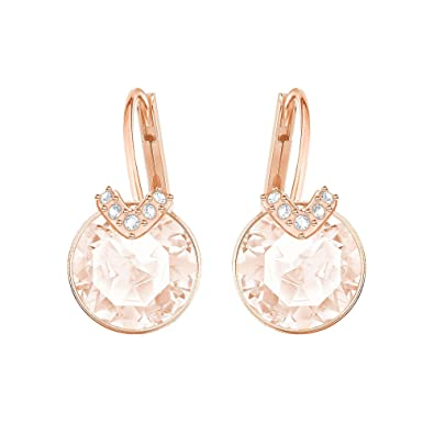 d0b2a087906d Amazon.com  Swarovski Crystal Medium Pink Rose Gold-Plated Bella V Earrings   Jewelry