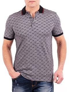 496543dd4f4 Amazon.com  Gucci Mens Polo Shirt Brown with Diamante Print and ...