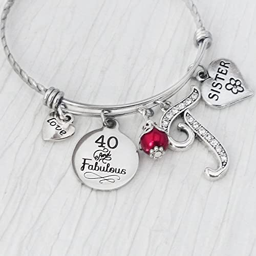 birthday gifts for sister from sister 40 and fabulous bangle bracelet jewelry love