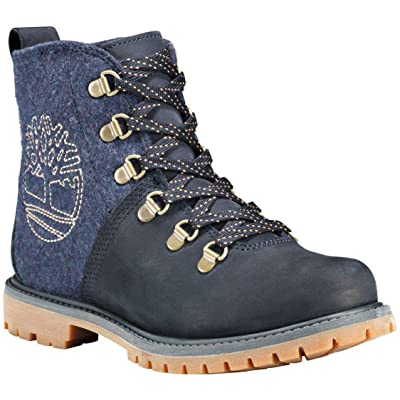 Timberland Womens Authentics D-Ring Hiker, Dark Total Eclipse Nubuck w/Indigo NXT Wool, Size 7.5: Shoes