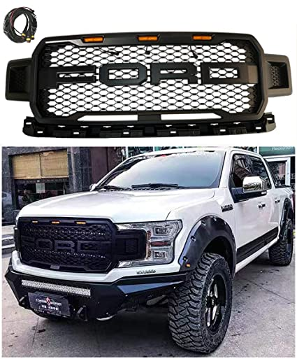 Amazon Com Honeycomb Raptor Style Front Grille Grill Ford