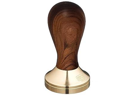 Motta tamper 49 mm in acciaio inox-base impugnatura in legno nero