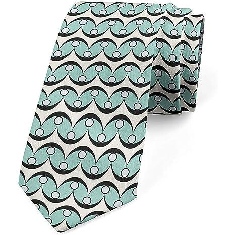 Corbata, arte de formas curvas en zigzag, marfil y espuma de mar ...