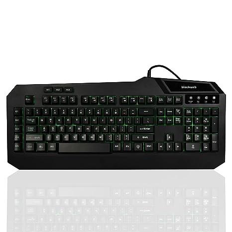 Amazon.com: Blackweb BWA17HO004 Centaur Gaming Keyboard with Interchangeable Backlight: Computers & Accessories