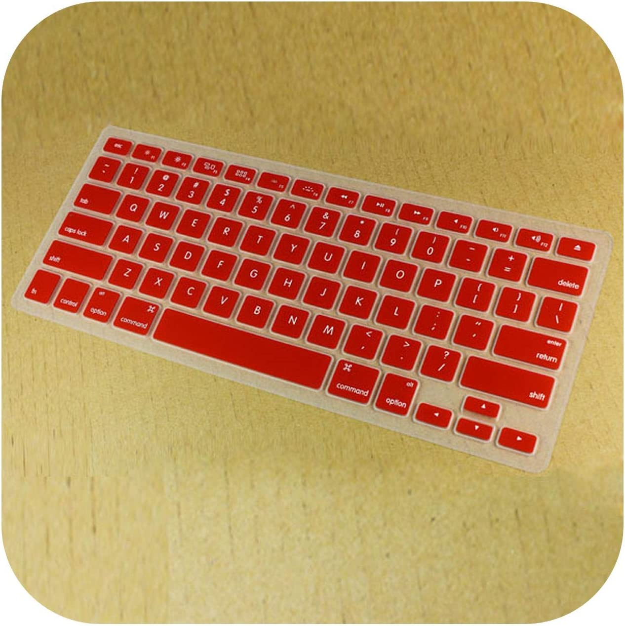 for MacBook Pro Retina 13 15 17 Inch Color Protector Cover Silicone Keyboard Skin Cover Film for Mac Book Air 13.3-Orange