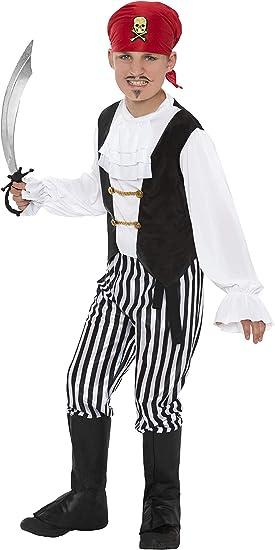 Smiffys 25761M - Disfraz de pirata para niño, talla M (7 - 9 años ...