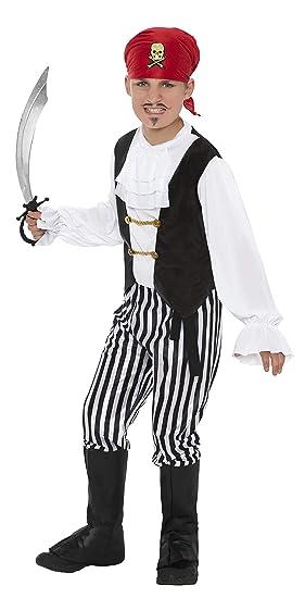 Smiffys 25761M - Disfraz de pirata para niño, talla M (7 - 9 años), 130-143 cm