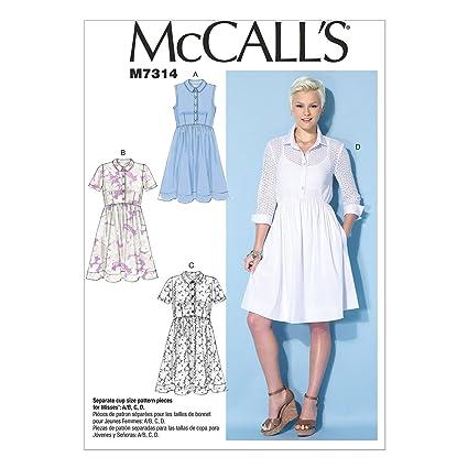 389c32a8cf5 McCall s Patterns 7314 A5 Sizes 6-14 Misses Dresses