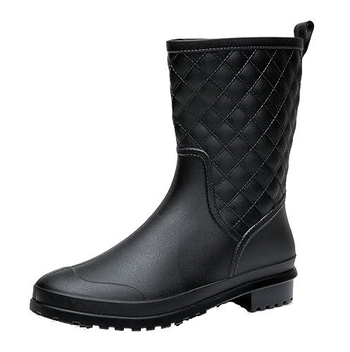 AgeeMi Shoes Donna Adulto Tacco Basso Stivale di Gomma