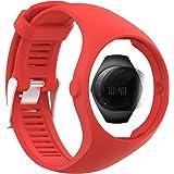TUSITA Cinturino + Protezione Schermo Per Polar M200, Sostituzione in Silicone Bracciale Accessorio WristBand per Orologio Polare GPS (ROSSO)