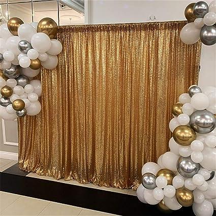 Soardream Goldenes Gewebe Mit Pailletten Hintergrund Für Fotografie Hintergrund Mit Pailletten 1 2 M X 2 M Küche Haushalt