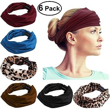 Amazon.com  FRCOLOR Yoga Headbands for Women 9d0a1f3fab