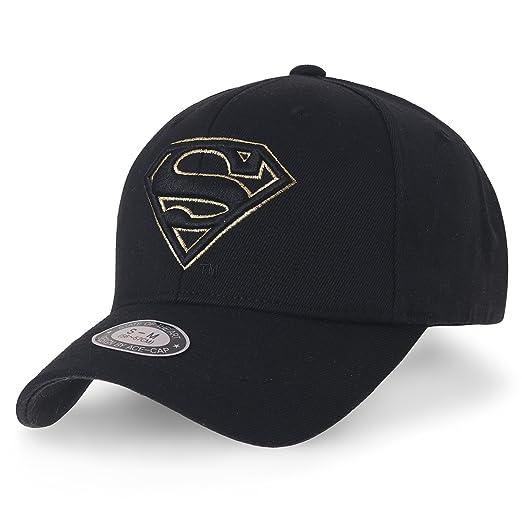 1b1298d540d ililily Superman Baseball Cap Superman Shield Embroidery Fitted Trucker Hat