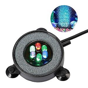 NICREW Multi-Colored LED Aquarium Air Stone