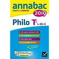 Annales Annabac 2019 Philosophie Tle L, ES, S: sujets et corrigés du bac Terminale séries générales