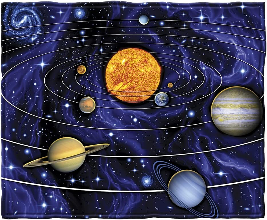 Outer Space Blanket  Baby To Adult Sizes  Planets Solar System  Small to Extra Large