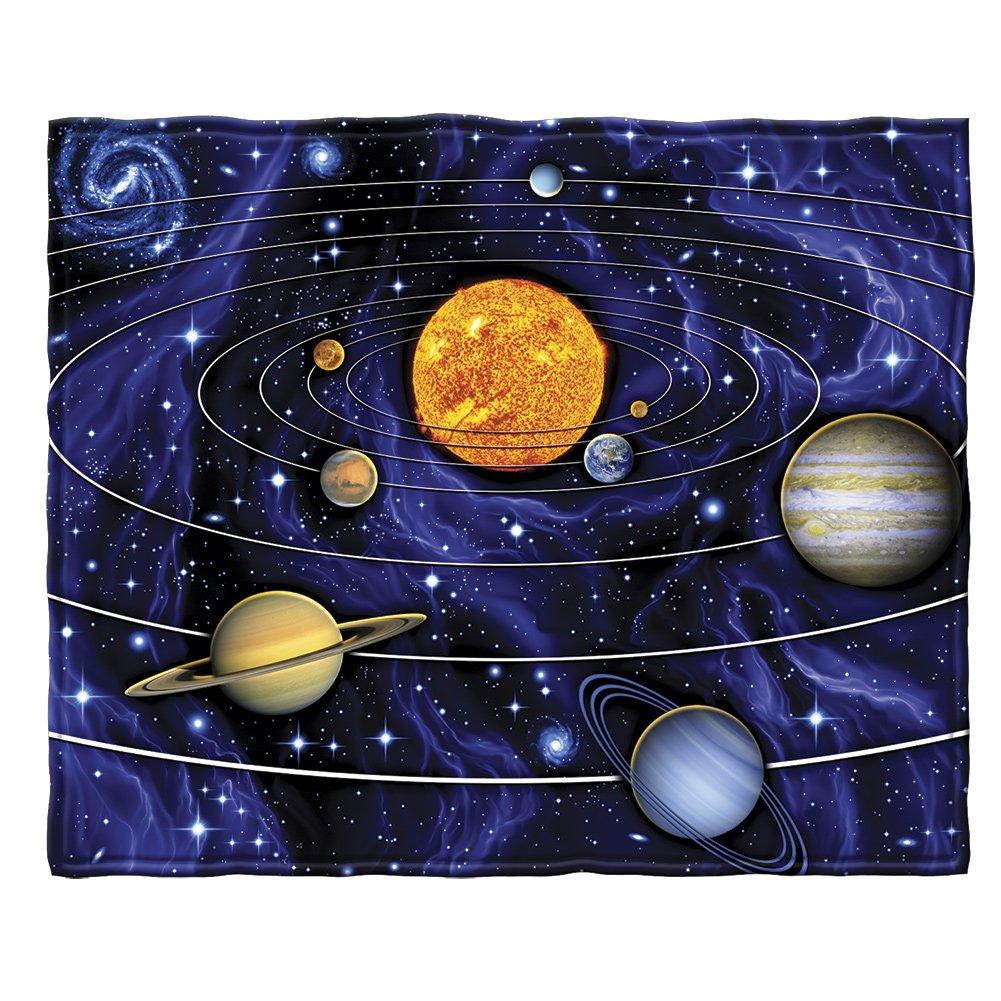 Solar System Fleece Throw Blanket