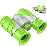 8 x 21 Binoculars For Kids, AUCEE Compact Telescope Binocular For Children Girl Boy Toy Gift Encourages Early Exploration for 3-12 Years Old, Mini Binoculars Lightweight for Children Outdoor Travel