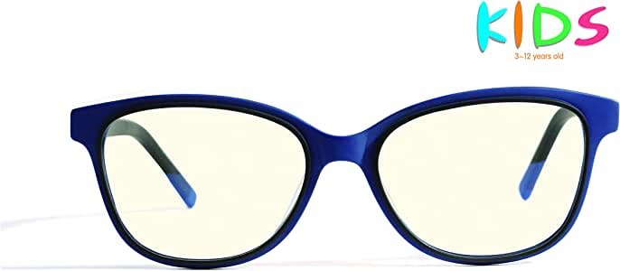 AVOptical Kids' Blue Light Blocking Glasses for Computer Reading Games (Age 3-12), Advanced Renewable Material, Anti Eyestrain Headache-AV2002-C3