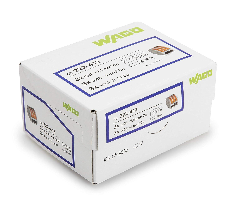 Wago WAG51190910-5//222413 Sachet de 5 bornes 3 x 2,5 mm/²