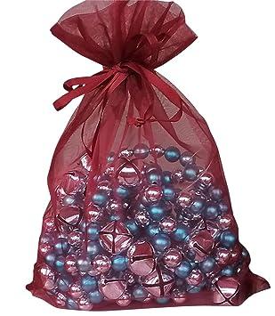 Amazon.com: Grandes bolsas de organza 10 Borgoña 8 x 11 ...