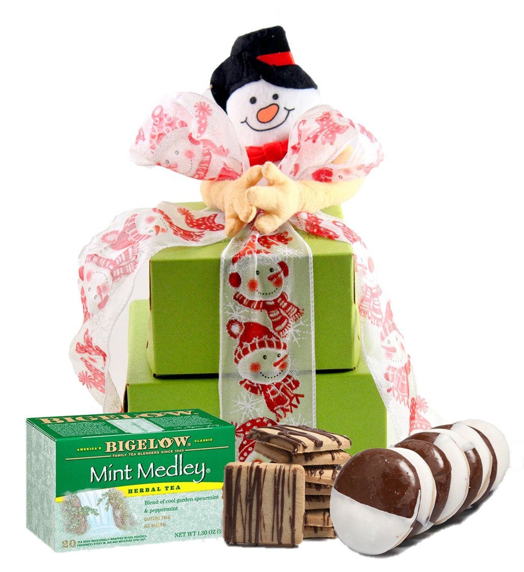 SMALL TOWER – Winter Wonderland! Gluten Free Gifts Tower ~ Gourmet Gluten Free Gift Baskets with Gluten Free Snacks ~ Gluten Free Snack Box ~ Gluten Free Care Package ~ Holiday Gift Baskets