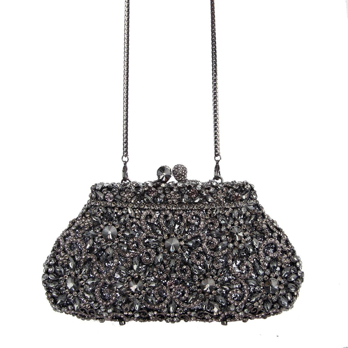 Bag Rhinestone Girls Bonjanvye Studded Sun For Flower Crystal Clutch Yfbv76gy