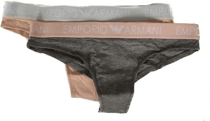 Emporio Armani Pack 2 Slip Braguitas Mujer bipack Brazilian ...