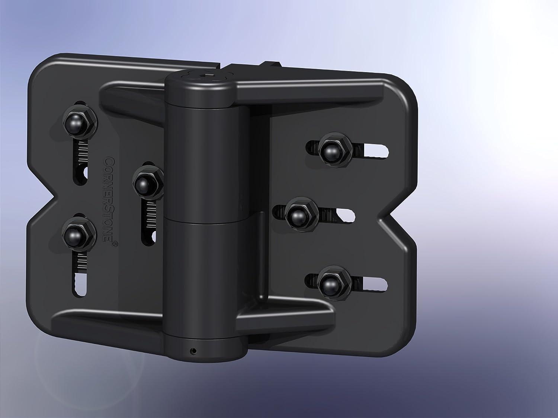 Cornerstone Heavy Duty Multi Adjustable Hinge Set Black