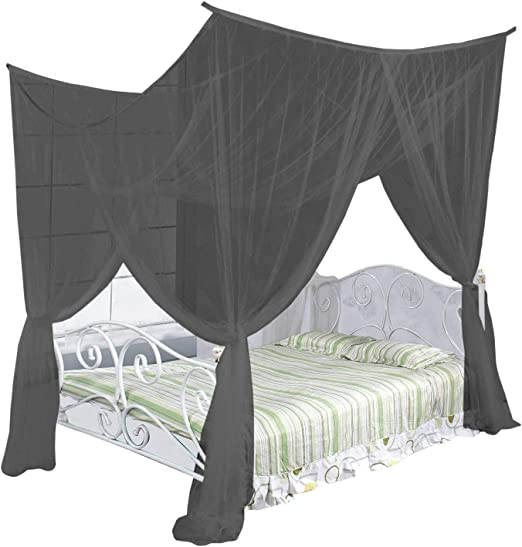 Amazon Com Just Relax Four Corner Post Elegant Mosquito Net Bed