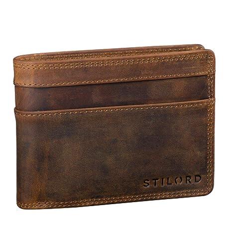 STILORD Cooper Portamonedas de Cuero para Hombre RFID y NFC Bloqueo Monedero Clásico Portamonedas