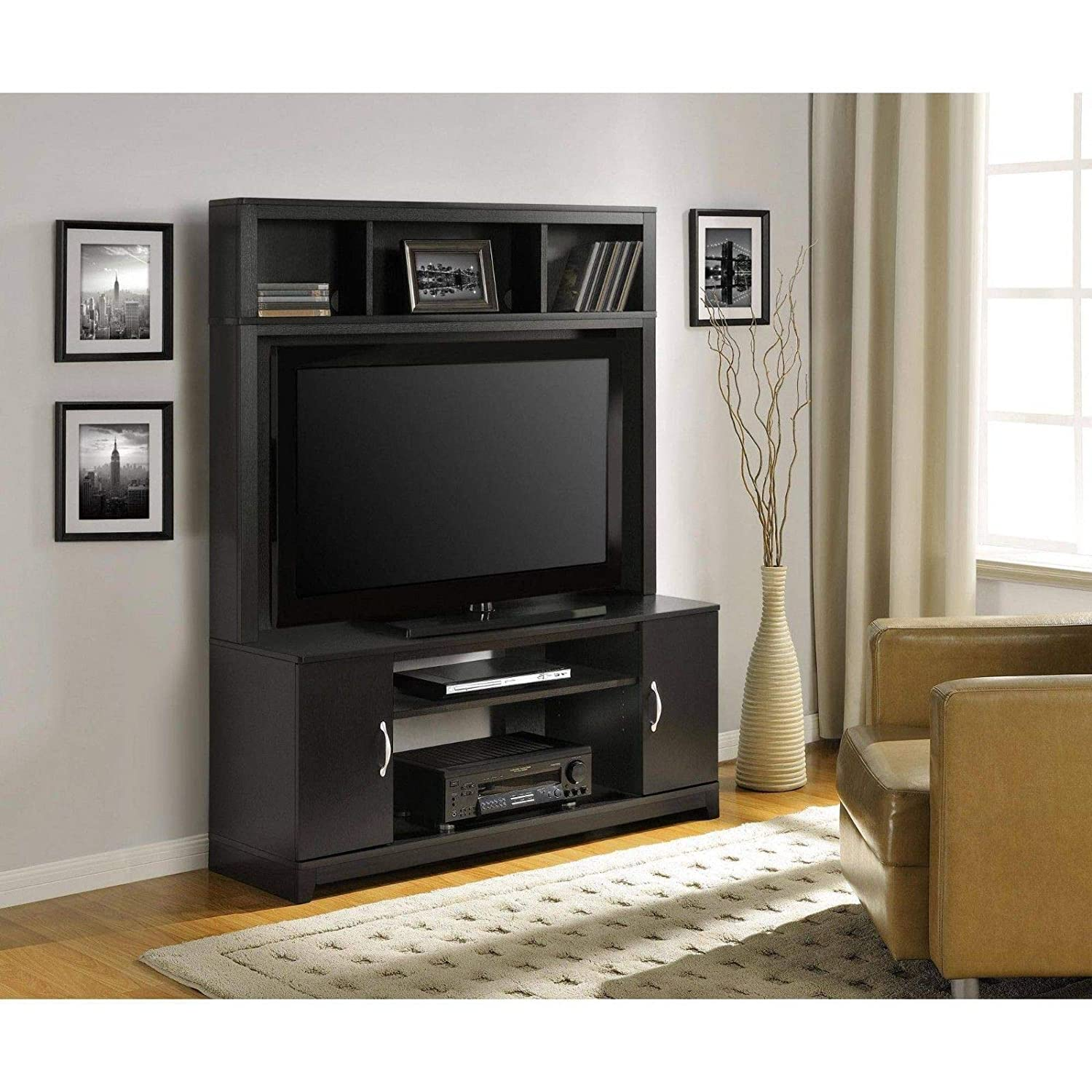 Amazon.com: Wood Classic TV Stand Home Entertainment Center ...