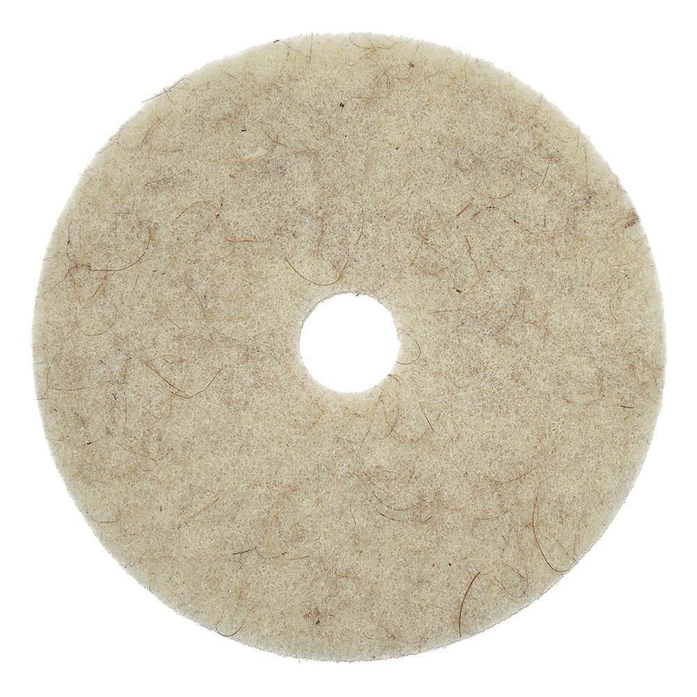 AFFEX UHS Tan Hog Hair Floor Pad, 20'', 5 Pads Per Case