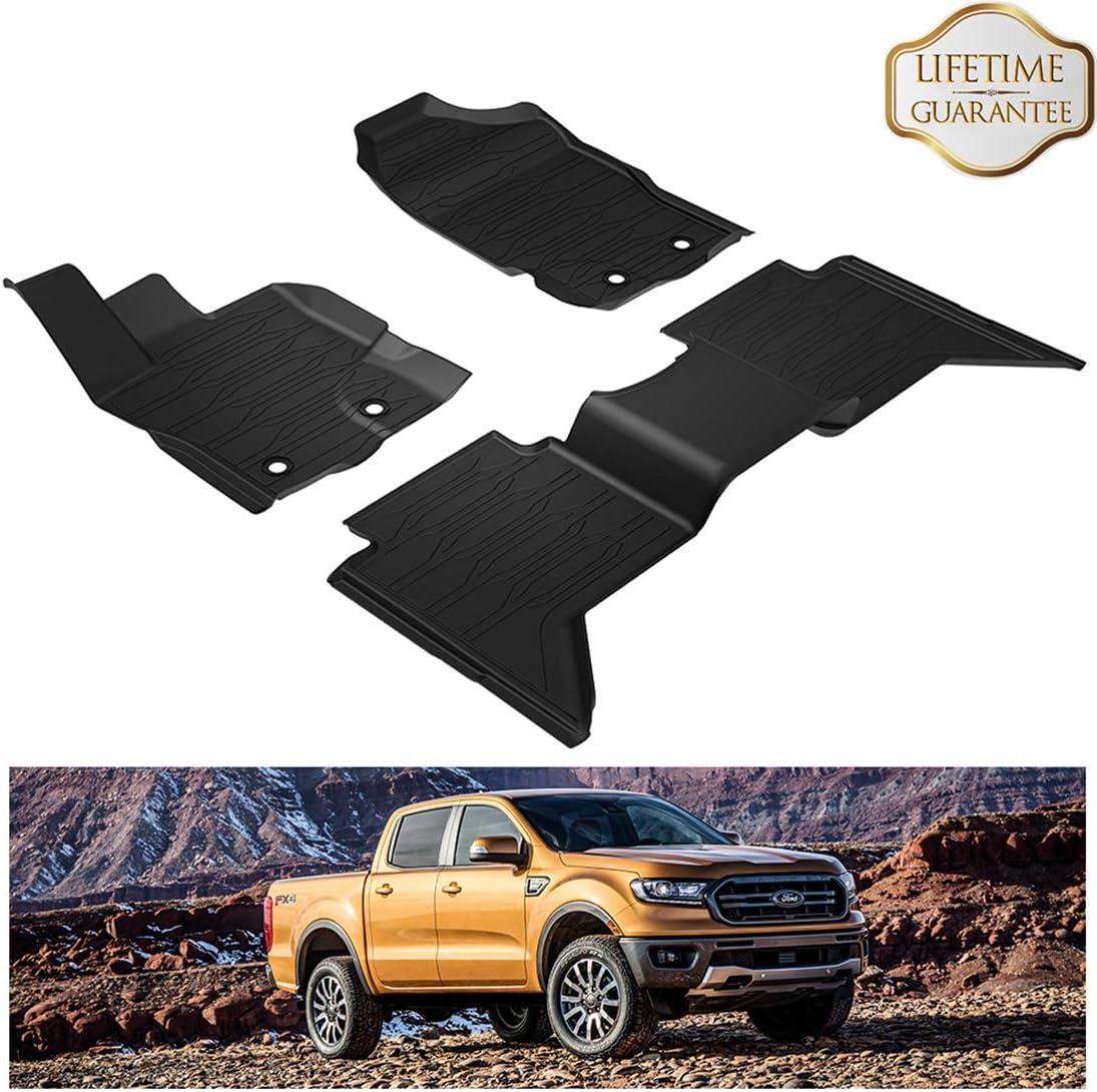 KIWI MASTER TPE Slush Mat Floor Liner Floor Mats for Dodge Ram 1500 CrewCab 2019
