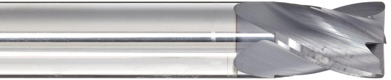 0.030 Corner Radius 4 Flutes 0.5 Shank Diameter 2.5000 Overall Length AlTiN Monolayer Finish 30 Deg Helix 0.5000 Cutting Diameter Melin Tool CCMGS Carbide Corner Radius End Mill