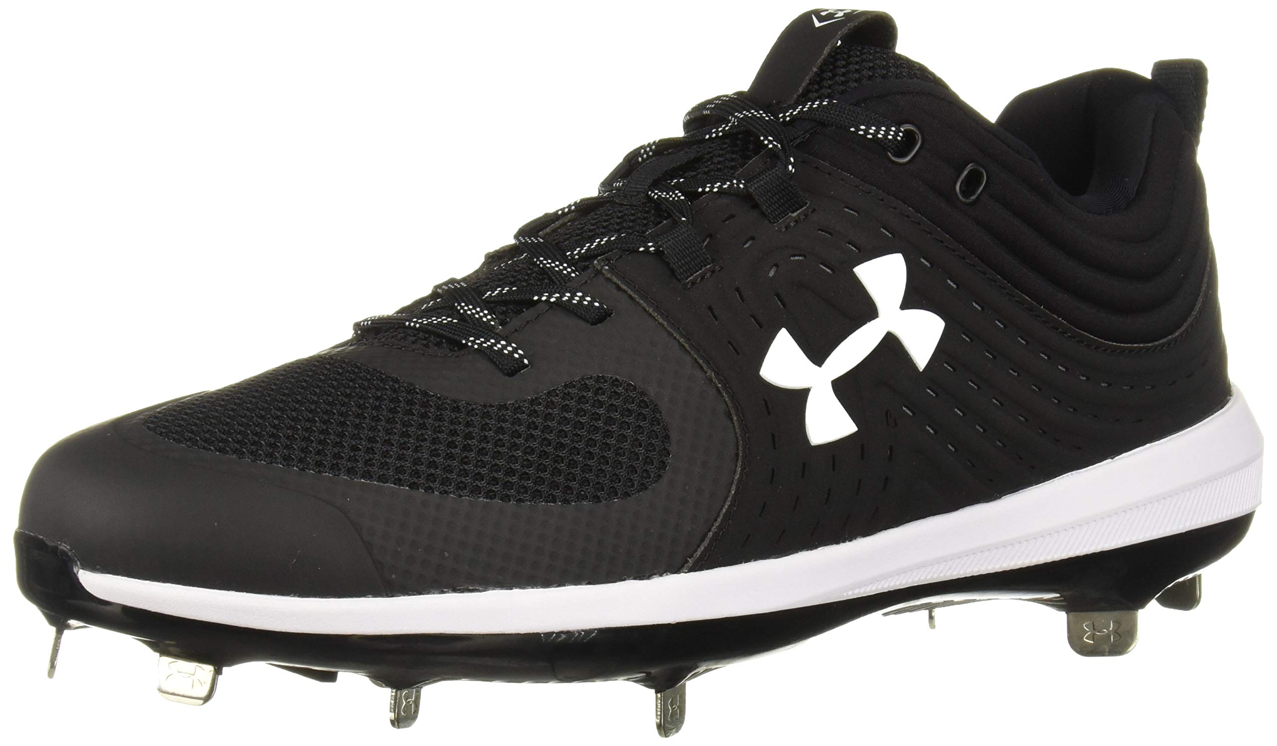 Under Armour Women's Glyde ST Softball Shoe, Black (001)/White, 7.5 by Under Armour