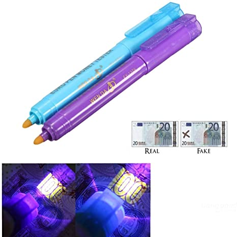 mark8shop FY de 1379 Dinero Falso Dinero lápiz detector de billetes falsos Checker