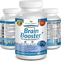 Advanced Brain Booster Supplements - 41 Ingredients Memory Focus & Clarity Vitamins...