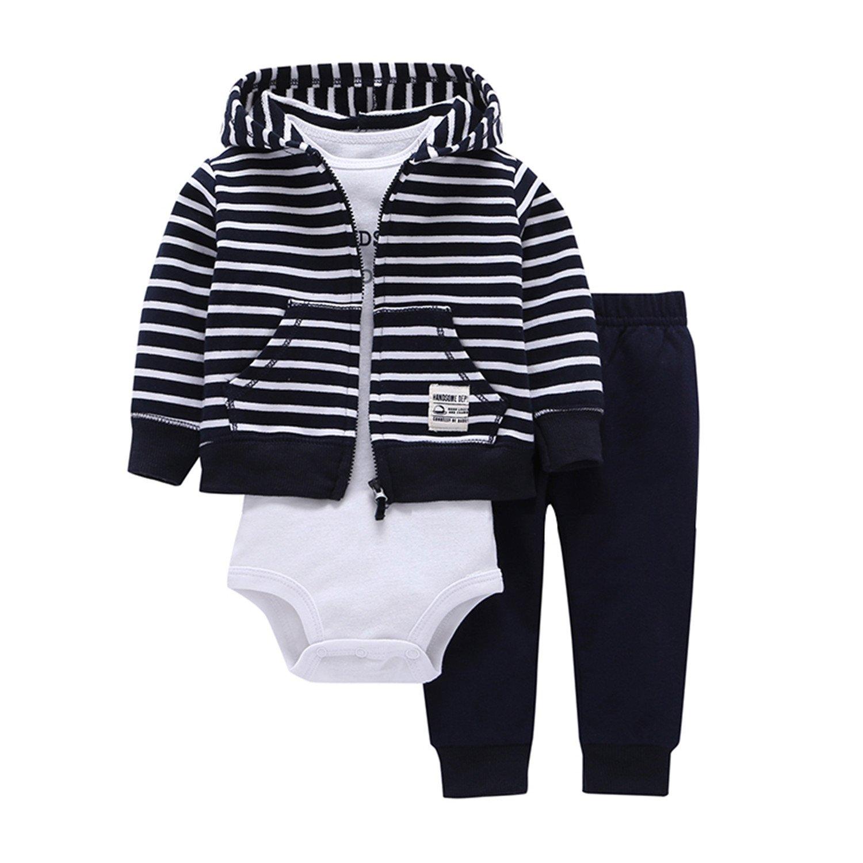 df0a6af5a237 Amazon.com  Joddie Haha Sets 1 Hooded Zipper Coat + Pants + Romper ...