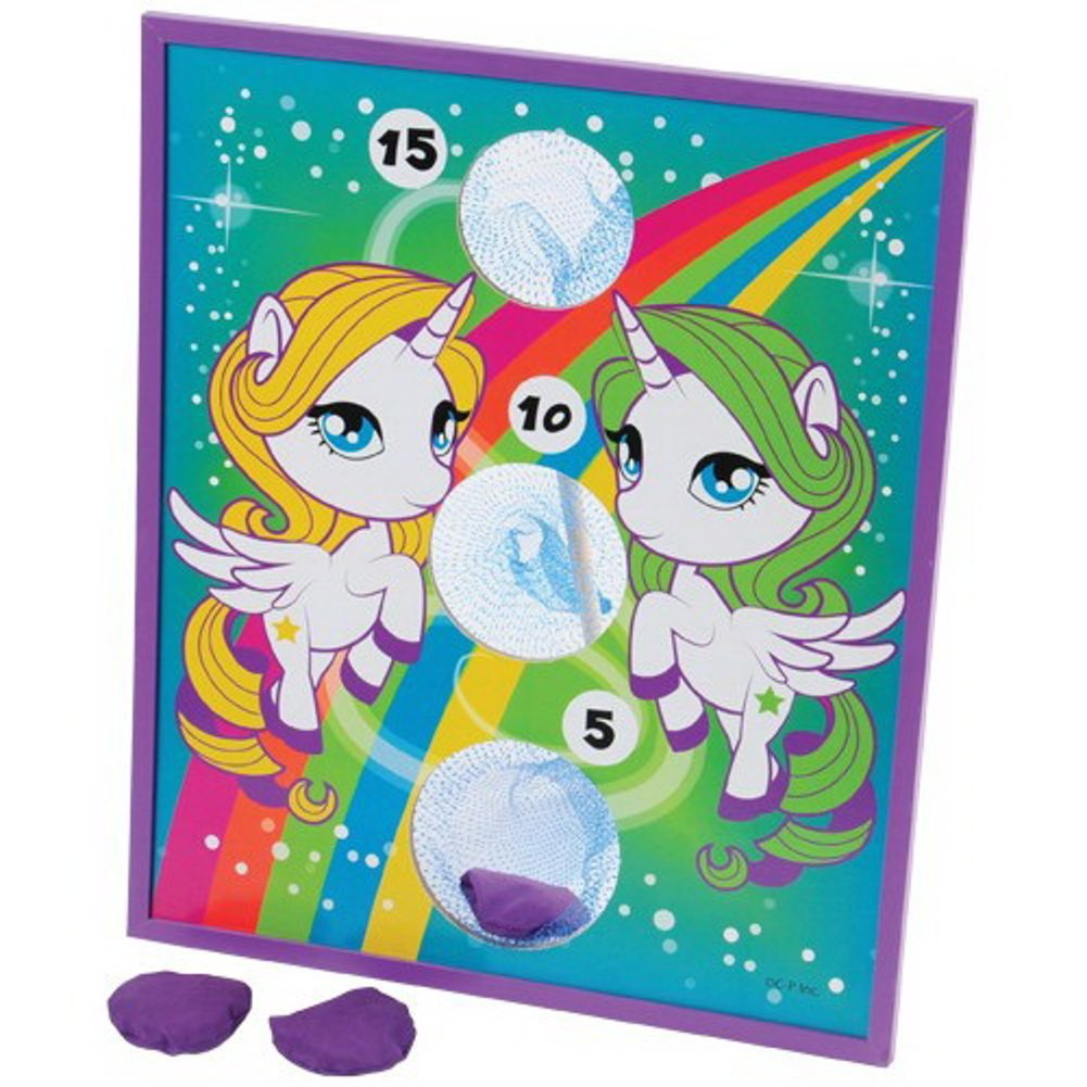 U.S. Toy Rainbow Pony Theme Bean Bag Toss Cornhole Game Set by U.S. Toy