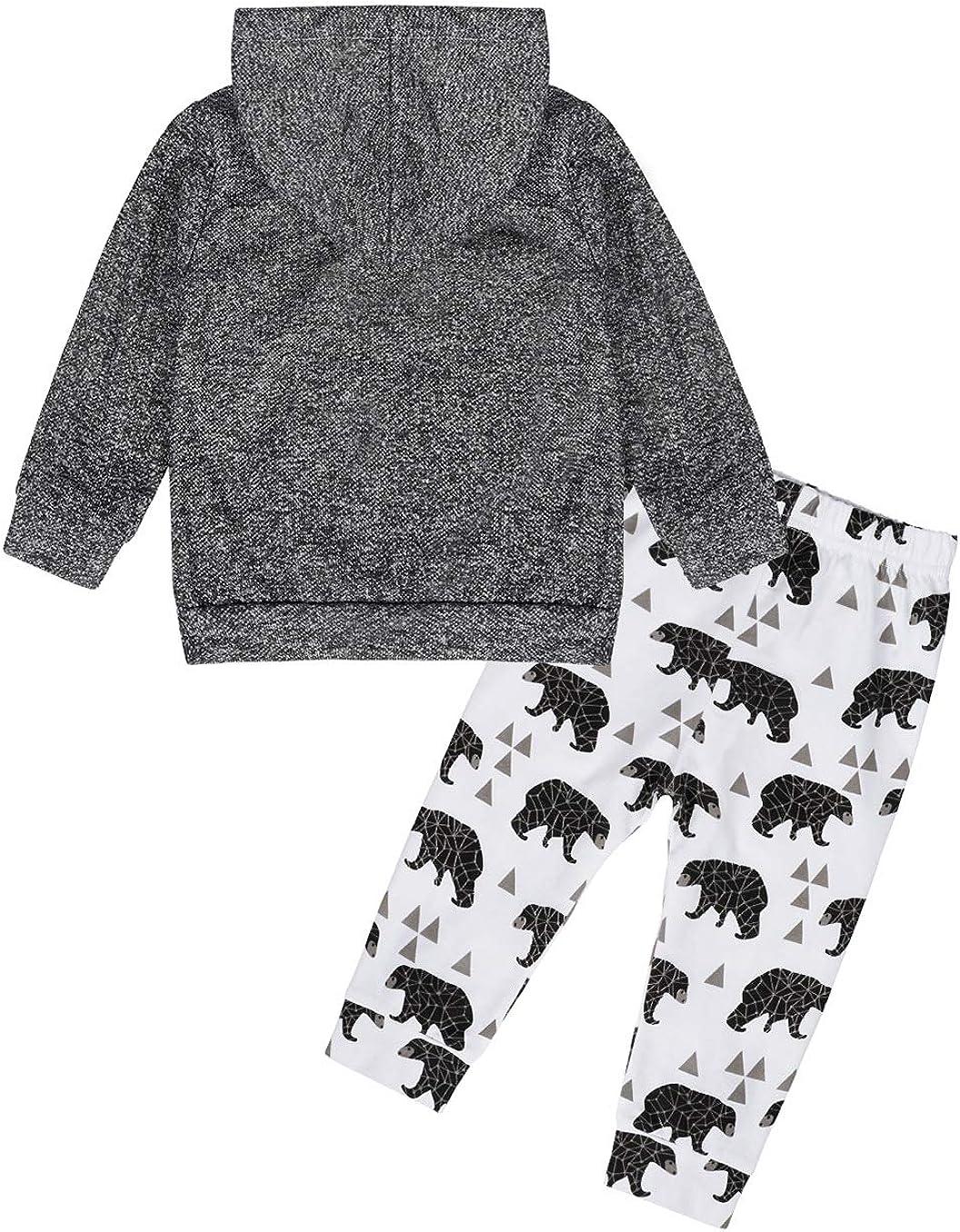 Jurebecia Toddler Newborn Baby Boy Clothes Long Sleeve Letter Print Romper+Long Pants+Hat 3PCS Outfits Set